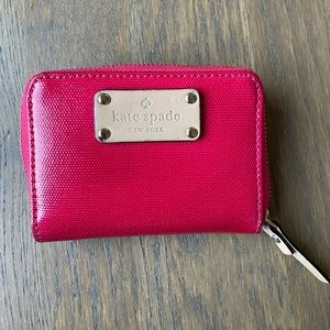 Kate Spade Small zip around pink wallet/cardholder